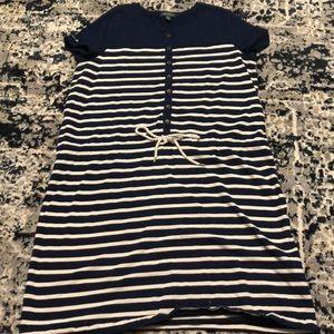 Ralph Lauren size XL blue and cream with tie waist